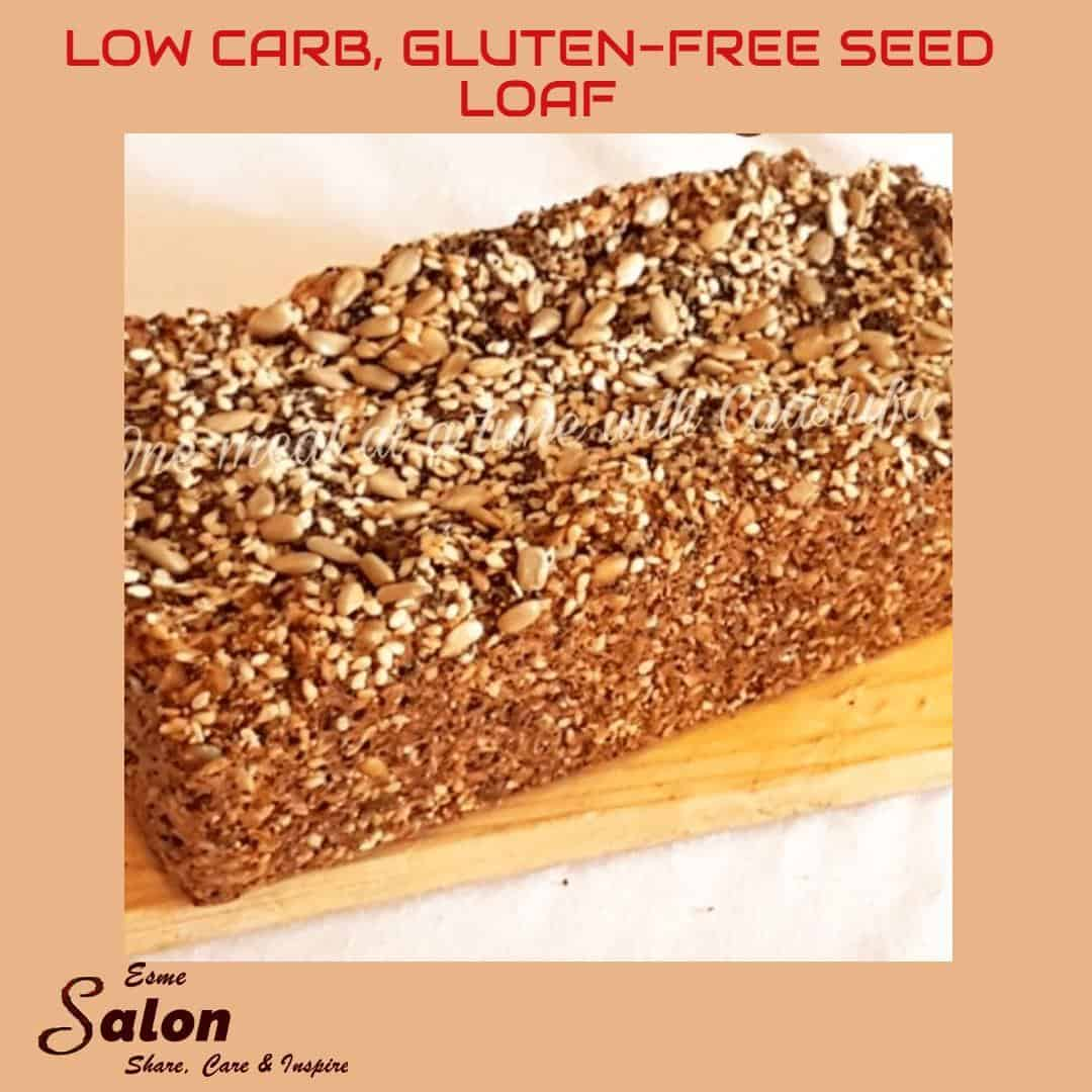 Low Carb, Gluten-free Seed Loaf #glutenfree #lowcarb #bread #shareEScare Link on the blog: https://wp.me/p9VI87-eKe