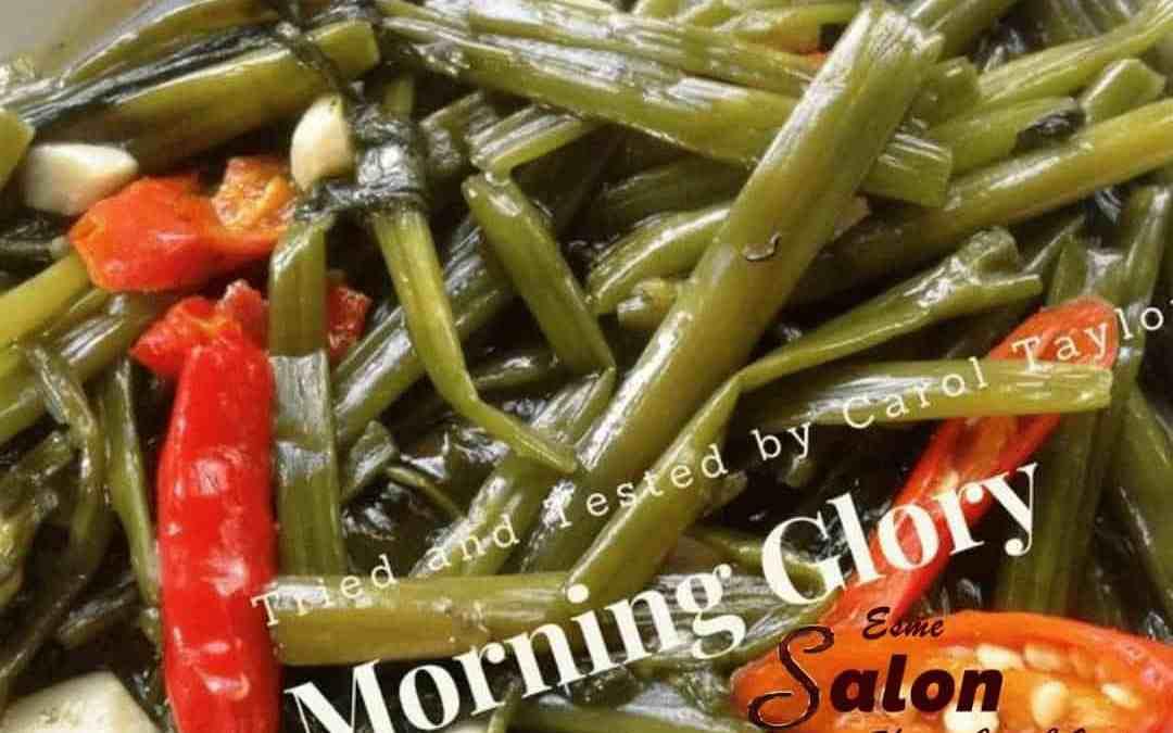Stir-fried Morning Glory or Pad Pak Boon Fai Daeng