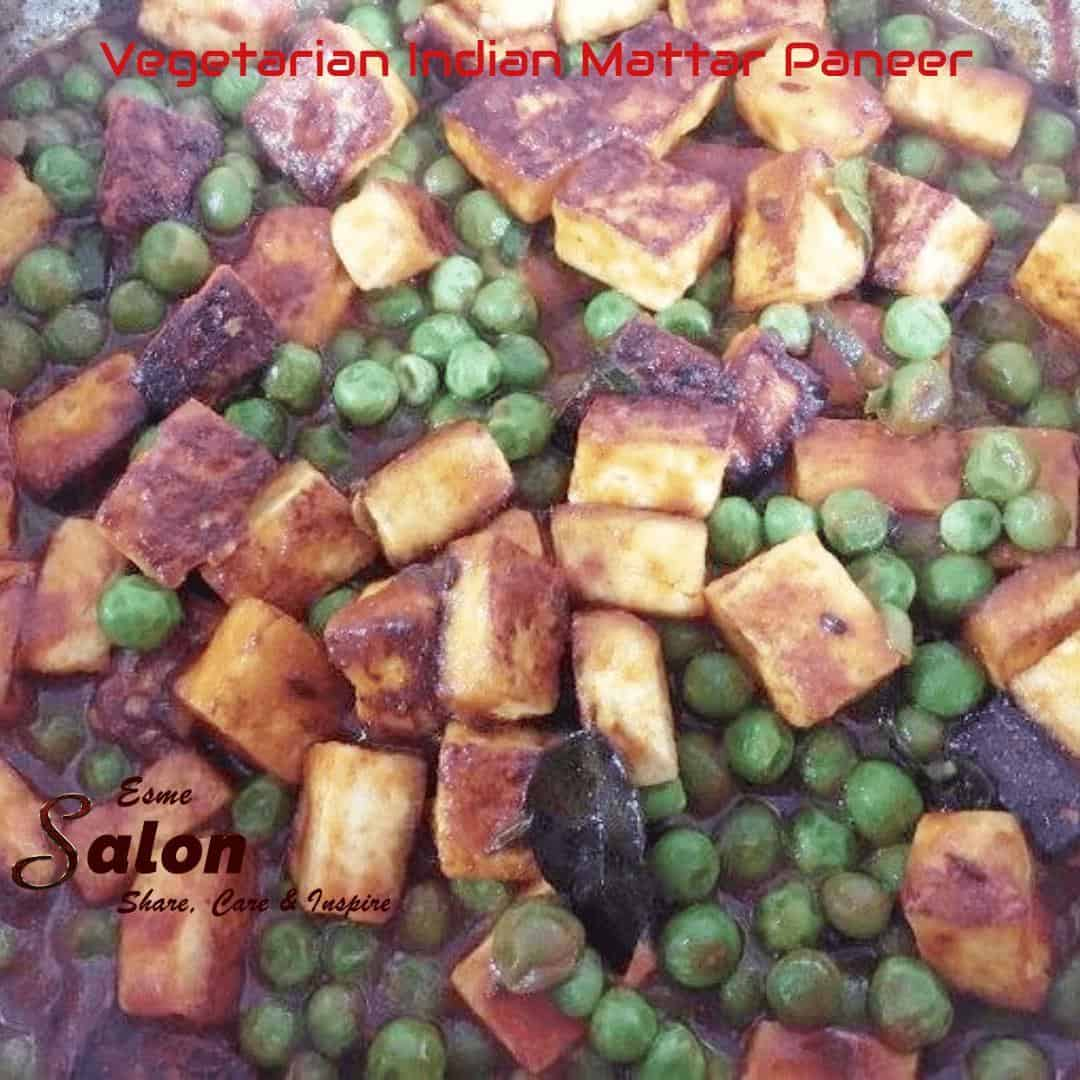 Vegetarian Indian Mattar Paneer