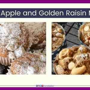 Blender Apple and Golden Raisin Muffins