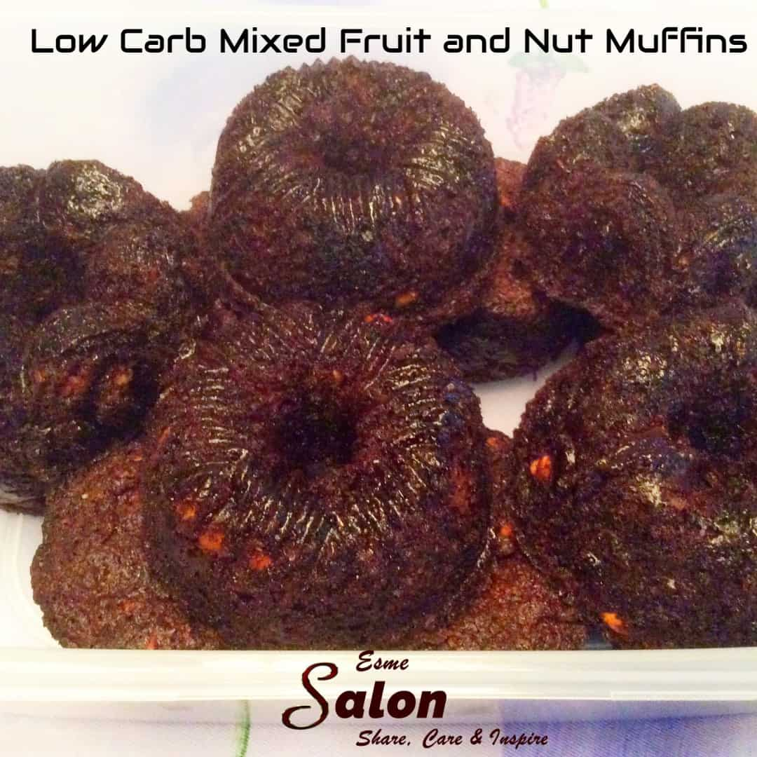 Low Carb Mixed Fruit and Nut Muffins