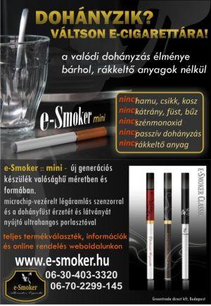 e-Smoker hirdetés 2009-ből