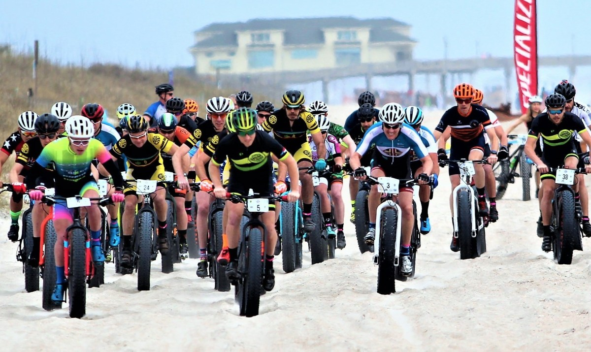 The Elite Starting Line - US Open Fat Bike Beach Championship - Courtesy Bill Sessoms