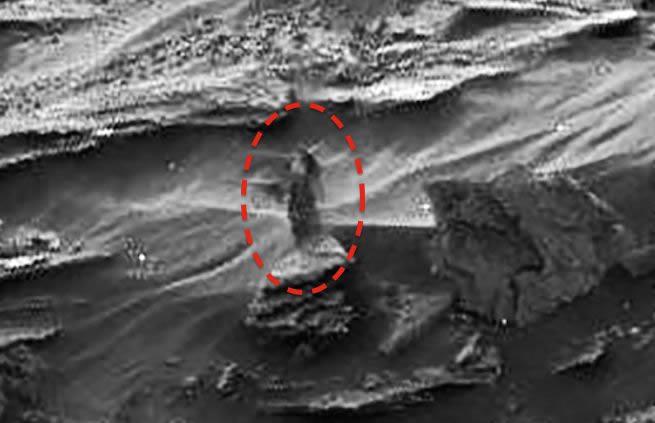 La extraña mujer en una foto de Marte
