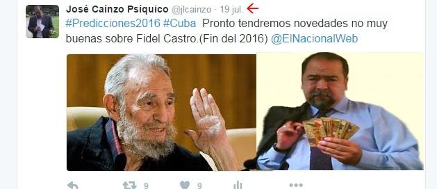 Psíquico predice la muerte de líder Cubano 5 meses antes