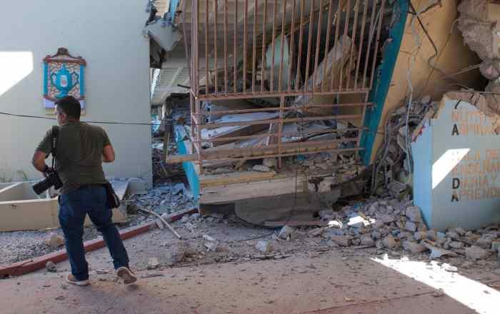 Gran reto abrir escuelas después de un terremoto
