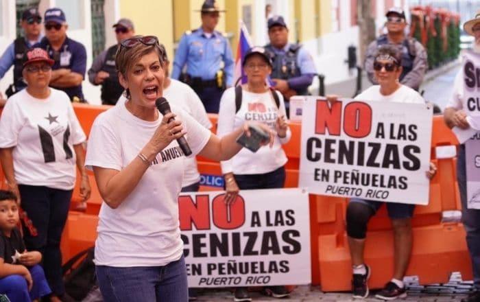 Senadora propone enmiendas para restringir depósito de cenizas