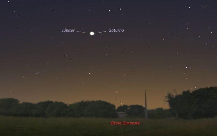 Diciembre de 2020: Júpiter y Saturno se verán tan cercanos como se vieron hace 794 años