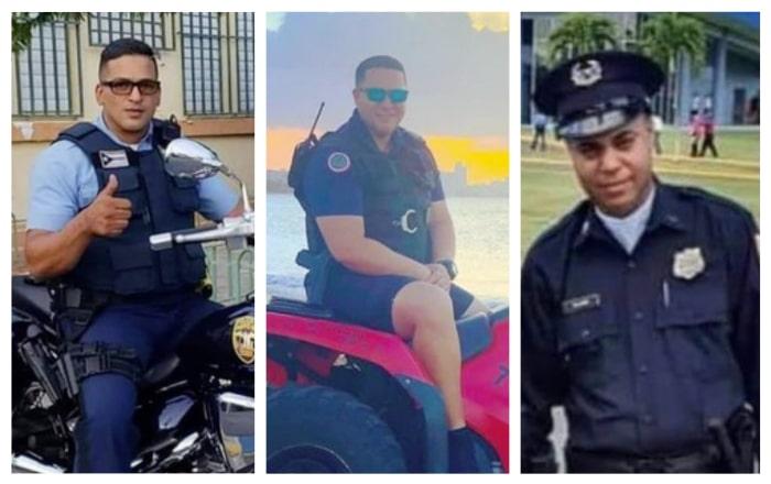 Honran la memoria de los tres agentes caídos