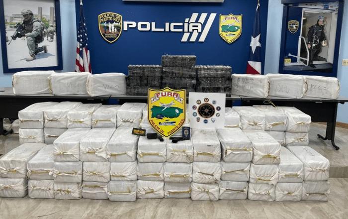 Incautan el cargamento de cocaína más grande del 2021