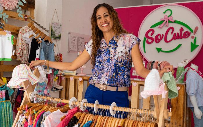 Compra, intercambia y recicla en tienda de ropa para niños