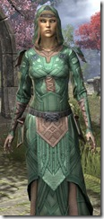 Ancient Orc Homespun Robe - Female Close Front