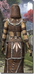 Argonian Homespun Robe - Female Close Back