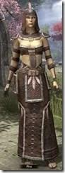 Argonian Homespun Robe - Female Front