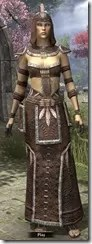 Argonian Homespun Robe - Female Front