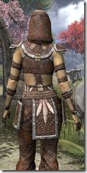 Argonian Homespun Shirt - Female Close Back
