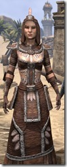 Argonian Linen - Female Robe Close Front