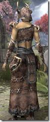 Barbaric Homespun Robe - Female Back