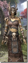 Barbaric Homespun Robe - Female Close Front