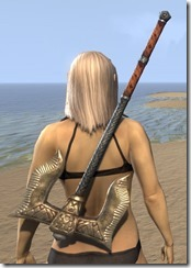 Dunmer Dwarven Battle Axe 2