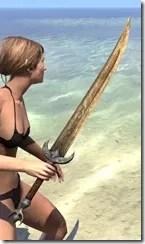 Khajiit Dwarven Sword 2