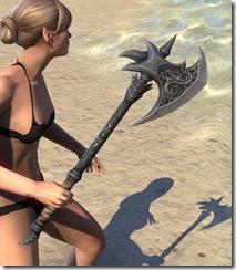 Dremora Iron Axe 2