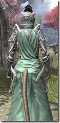 Apostle Homespun - Khajiit Female Robe Close Rear