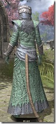 Ashlander Homespun - Khajiit Female Robe Rear