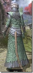 Ashlander Homespun - Khajiit Female Robe Rear