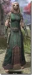 Akaviri Homespun - Khajiit Female Robe Front
