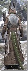 Aldmeri Dominion Homespun - Argonian Male Robe Rear