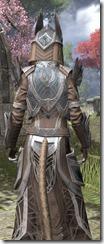 Aldmeri Dominion Homespun - Khajiit Female Robe Close Rear