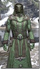 Ancient Elf Homespun - Argonian Male Robe Close Front