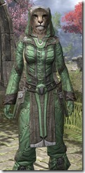 Ancient Elf Homespun - Khajiit Female Shirt Close Front