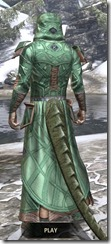 Ancient Orc Homespun - Argonian Male Robe Rear