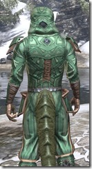 Ancient Orc Homespun - Argonian Male Shirt Close Rear
