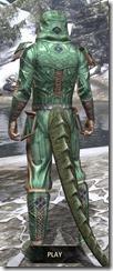 Ancient Orc Homespun - Argonian Male Shirt Rear