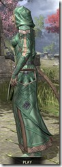 Ancient Orc Homespun - Khajiit Female Robe Side
