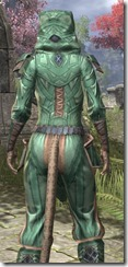 Ancient Orc Homespun - Khajiit Female Shirt Close Rear