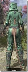 Ancient Orc Homespun - Khajiit Female Shirt Rear