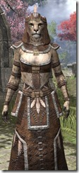 Argonian Homespun - Khajiit Female Robe Close Front