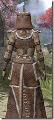 Argonian Homespun - Khajiit Female Robe Close Rear