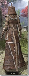 Argonian Homespun - Khajiit Female Robe Rear