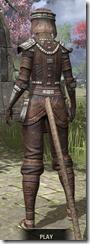 Argonian Iron - Khajiit Female Rear