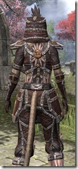 Argonian Spidersilk - Khajiit Female Shirt Close Rear