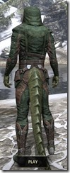 Assassins League Homespun - Argonian Male Shirt Rear