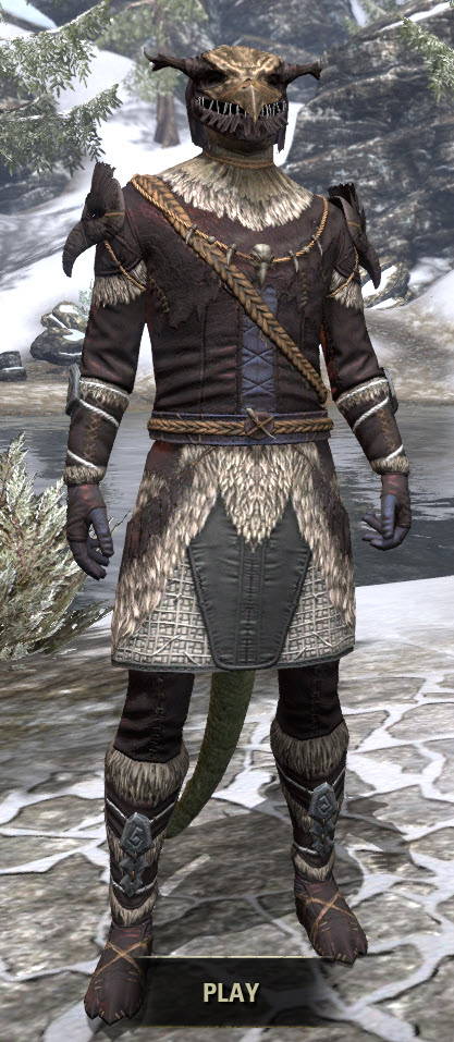 Icereach Coven Medium - Argonian Male Front