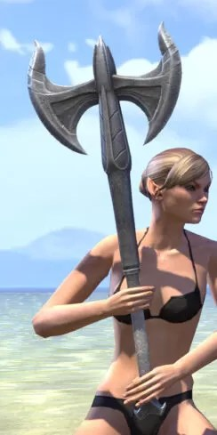 Ancestral High Elf Iron Battle Axe 2