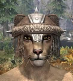 Ancestral Nord Homespun Hat - Khajiit Female Front