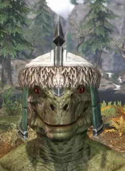 Ancestral Orc Homespun Hat - Argonian Male Front
